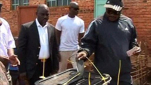 President Pierre Nkurunziza voting in the election