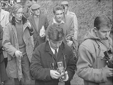 A rescue party attempt to save 20-year-old Neil Rose in 1959