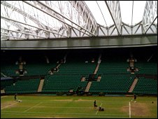 Centre Court with the roof on