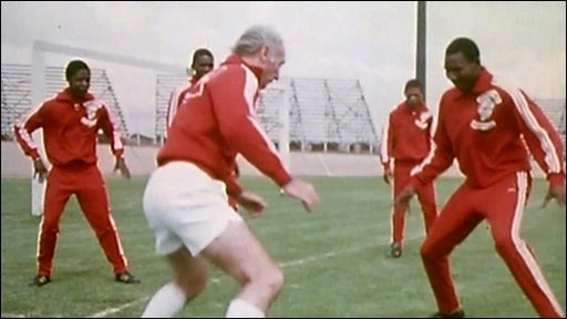 Sir Stanley Matthews training in South Africa