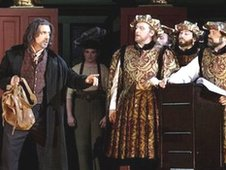 Raymond Very and Bryn Terfel in WNO's production of Meistersinger
