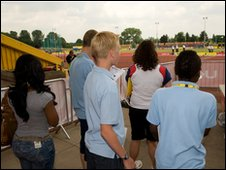 School Reporters at the European Athletics Trials and UK Championships in Birmingham.
