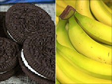 Oreos and bananas