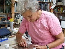 Penny Somerville at work in her studio