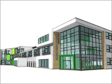 Artist's impression of new Alsop High