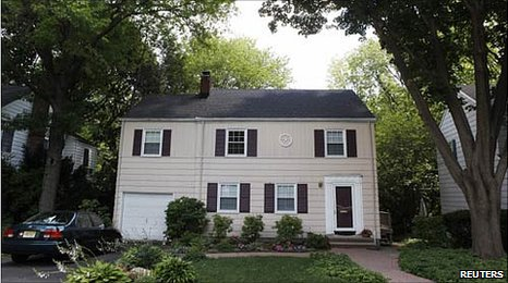 "The home where ""Richard Murphy"" and ""Cynthia Murphy"" were arrested Sunday is pictured in Montclaire, New Jersey,"