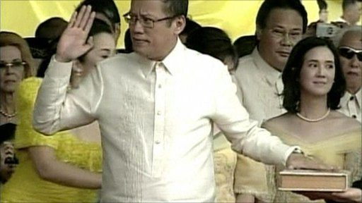 "Benigno ""Noynoy"" Aquino sworn in as president"