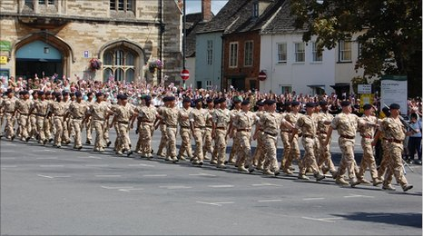 9 Regiment Royal Logistic Corps on parade