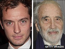 Jude Law and Sir Christopher Lee