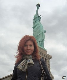 "A photo said to be of suspect Anna Chapman on the Russian social networking website ""Odnoklassniki"", or Classmates"