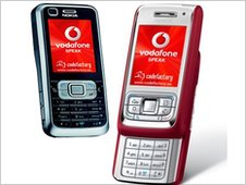 Photo of phones running Vodafone Speak