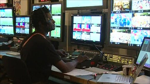 TV gallery at World Cup
