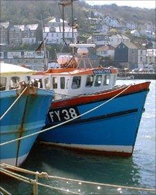 The beautiful fishing town of Looe