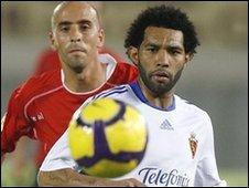 Real Zaragoza's Jermaine Pennant