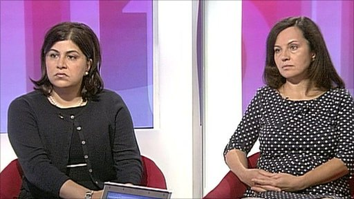 Baroness Warsi and Caroline Flint