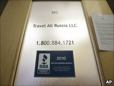Travel All Russia's office in Arlington, 29 June