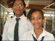 School Reporters Pavani and Sascha
