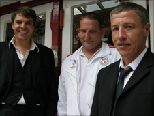Neil Dunsire, Darren Cave and Jonathan Williams