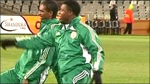 Nigeria's team in training