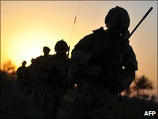 Soldiers in Helmand province