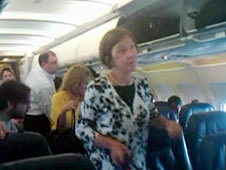 Passengers on board the US Airways flight