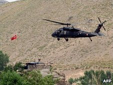 Turkish helicopter in south-eastern Turkey,