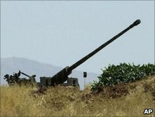 Syrian anti-aircraft gun (file)
