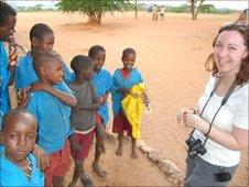 Faye Harland in Kenya