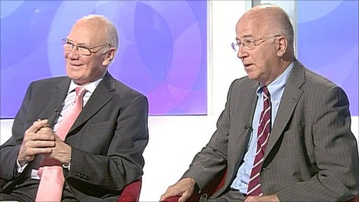 Sir Menzies Campbell and Denis MacShane