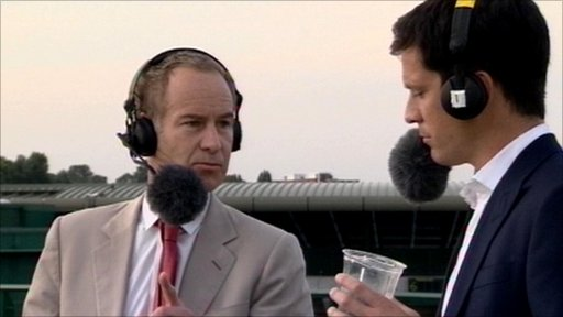 John McEnroe and Tim Henman