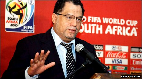 Danny Jordaan speaking at a press conference