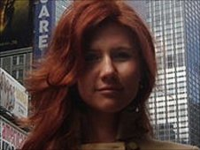 Suspect &quot;Anna Chapman&quot; in photo from Russian social networking website &quot;Odnoklassniki&quot;, or Classmates - undated photo