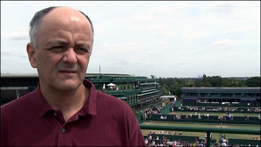 Spanish tennis journalist Javier Martinez
