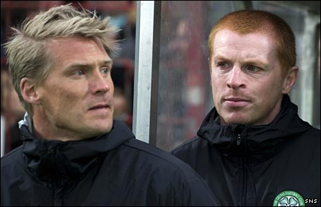 Johan Mjallby and Neil Lennon