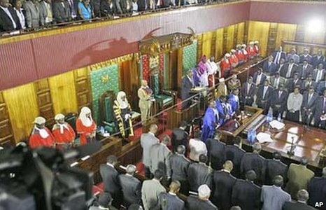 Opening of the Kenyan parliament