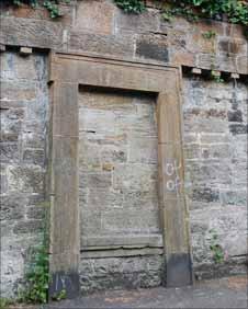Blank doorway in Sixty Steps structure