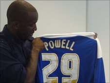 Chris Powell with his Leicester shirt