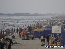 A beach in Gaza City - 18 June 2010