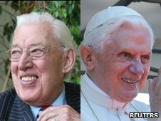 Ian Paisley and Pope Benedict XVI