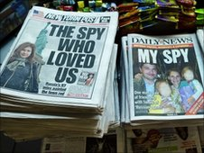 A new York news stand