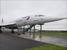 Concorde - Alpha Foxtrot - on the tarmac at Filton
