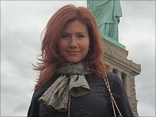 A social network image said to be of suspect Anna Chapman