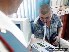 Russian breathalyser