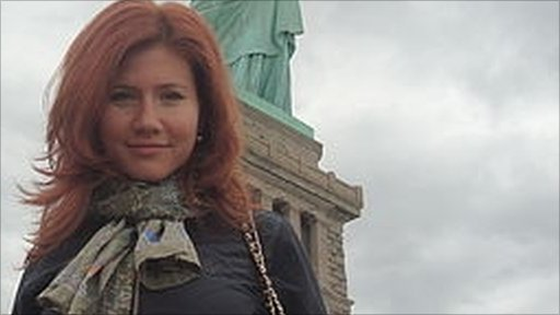 An image said to be of Anna Chapman