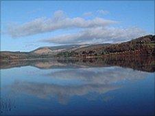 Llyn Onn reservoir in mid Wales