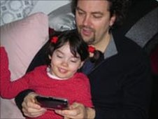 Martin Brooks and five year old daughter Mia.