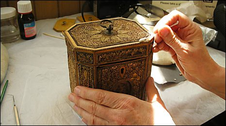 Tea caddy - quilling