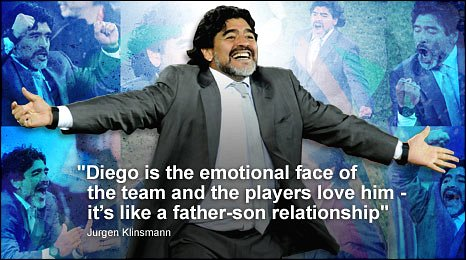Argentina coach Diego Maradona