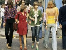 Shoppers in London in 1973