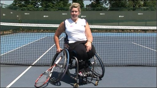 Wheelchair tennis star Louise